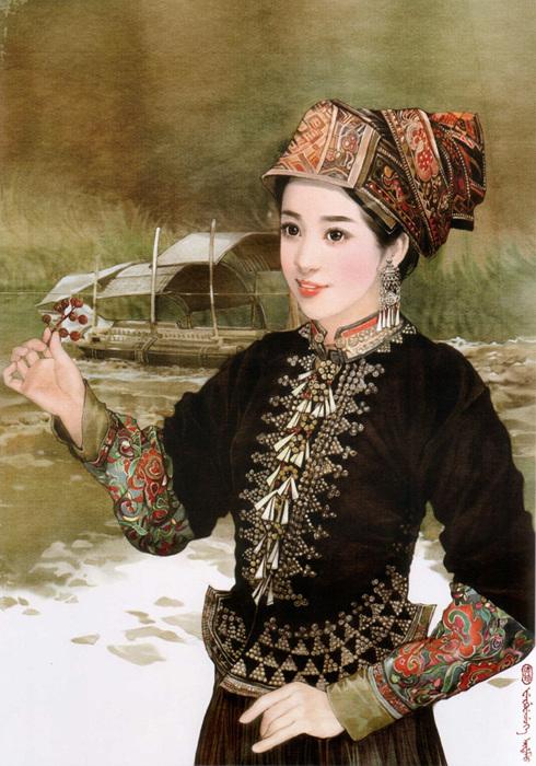 各民族美女服饰